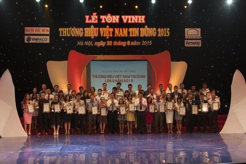 Lễ Tôn vinh Thương hiệu Việt Nam tin dùng 2015
