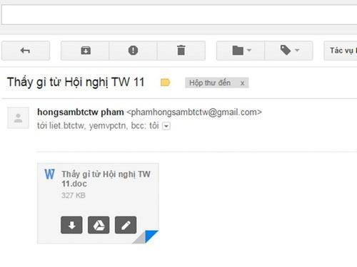 E-mail giả mạo Thủ tướng lừa người dùng để cài mã độc.