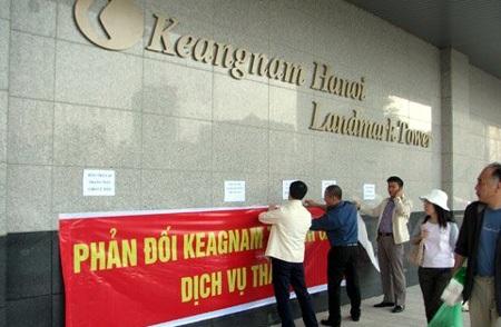 Liên tiếp xảy ra tranh chấp giá dịch vụ tại chung cư Keannam