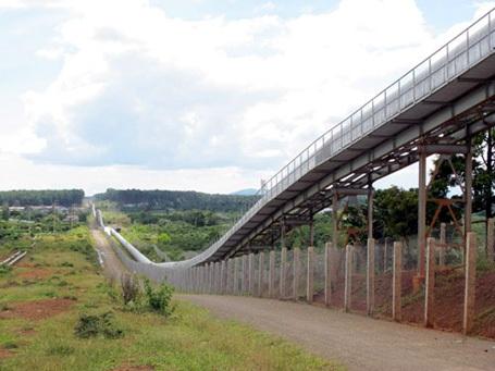 Băng tải chuyển quặng tinh dự án bôxít (ảnh NLD)