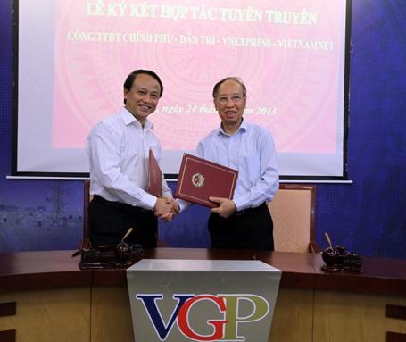 Dân trí ký hợp tác thông tin với Cổng Thông tin điện tử Chính phủ
