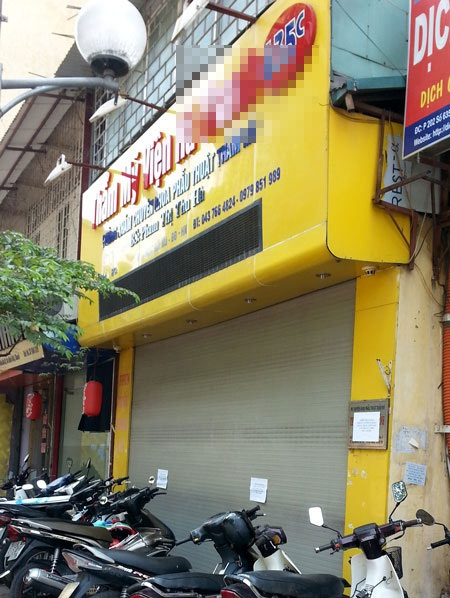 Một số thẩm mỹ viện trên địa bàn Hà Nội đã đóng cửa (ảnh Như Quỳnh)