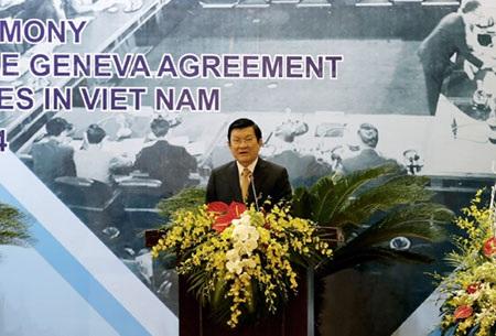 Chủ tịch nước Trương Tấn Sang phát biểu tại Lễ kỷ niệm