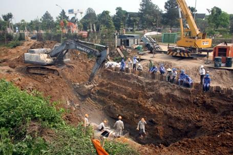 Mỗi lần đường ống nước sạch sông Đà vỡ ảnh hưởng đến 70.000 hộ dân Hà Nội