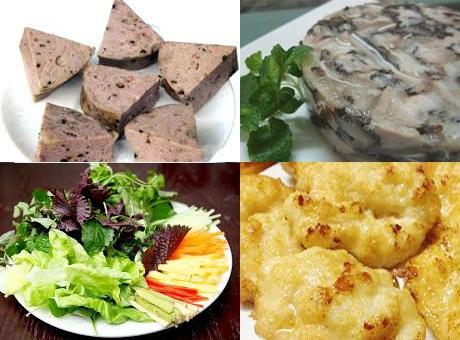 Tôm sắt bóc nõn, khô, chao nhẫy dầu (mỡ), thấy có trong nhân bánh cuốn bà Ngân