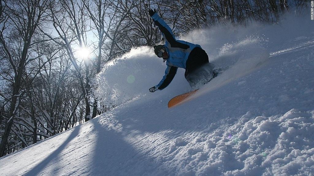Trượt tuyết tháng 2.