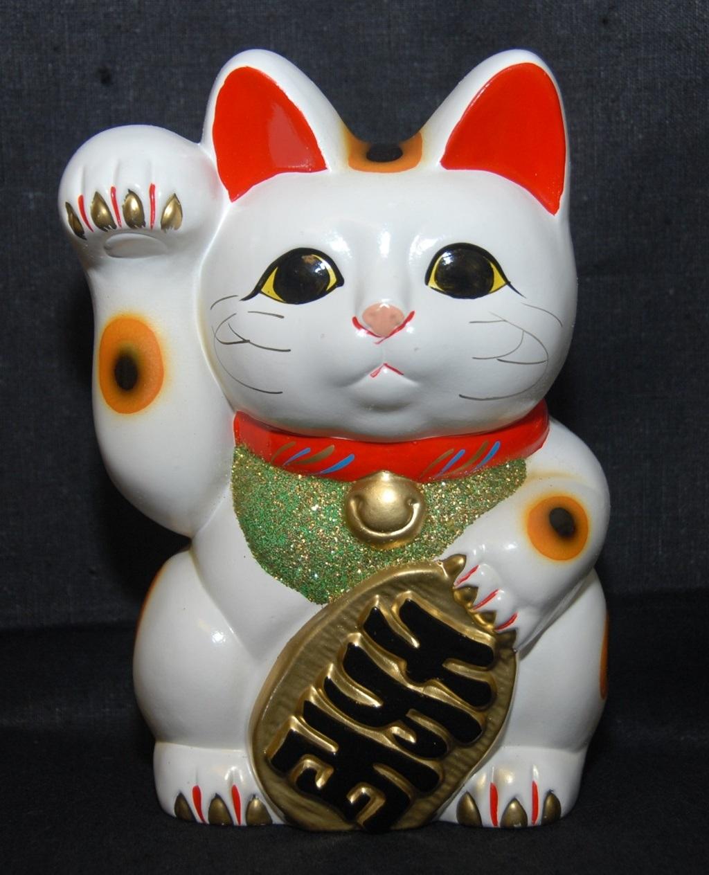 Chú mèo Maneki Neko mang lại nhiều may mắn và tài vượng