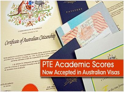 1/PTE A được chấp nhận cho hầu hết các loại visa Úc:
