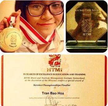Sinh viên khóa thạc sĩ Trần Bảo Hoa được Học viện HTMi tặng giấy khen