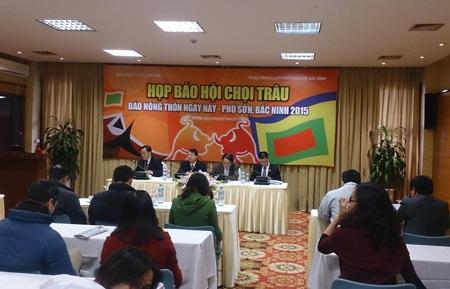 Bắc Ninh lần đầu tổ chức hội chọi trâu