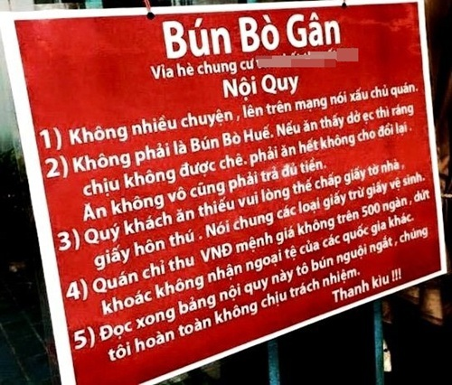 """Những biển hiệu """"độc nhất vô nhị"""" tại Việt Nam"""