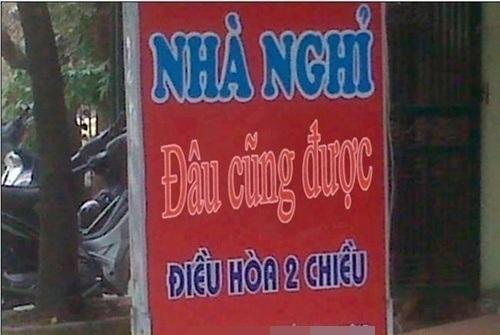 Nhà nghỉ trên đường Trần Duy Hưng, Hà Nội với cái tên rất thu hút