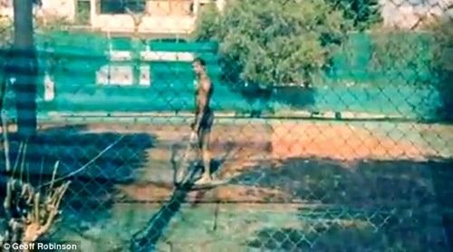 Sân tennis không có lưới chắn
