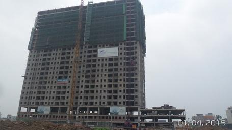 Hiện dự án đã cất nóc và hoàn thiện xây lắp đến tầng 20