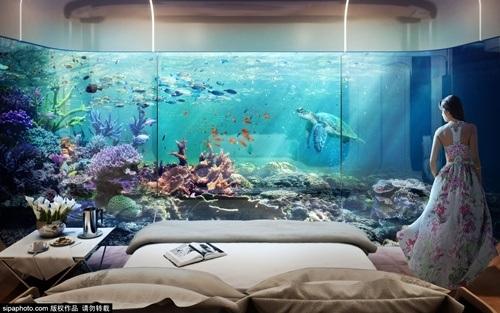Phòng ngủ được thiết kế tại tầng 1