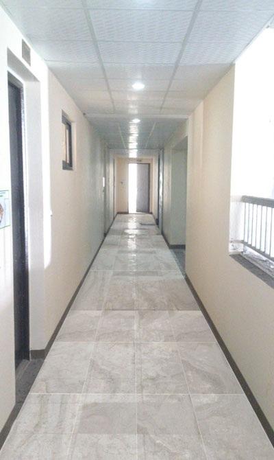 Hình ảnh khu hành lang đã hoàn thiện