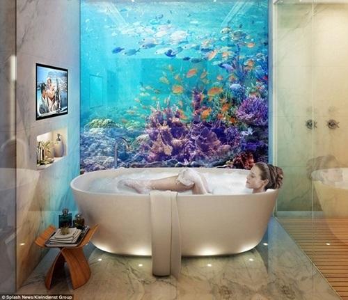 Không gian tắm lý tưởng nhìn thẳng ra biển