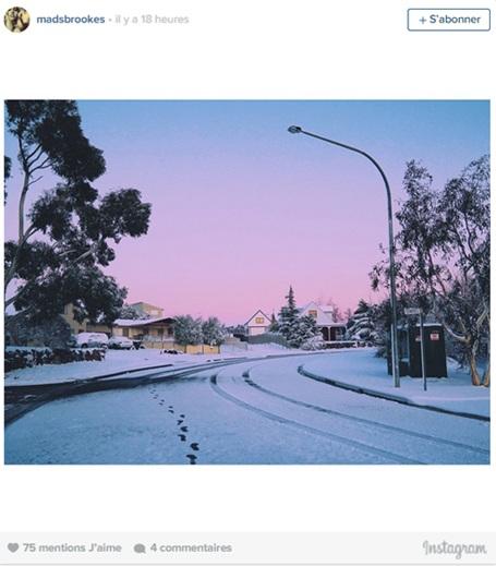 Con đường đã ngập tuyết