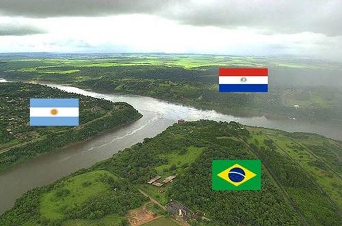 Ngã ba sông là nơi phân chia giữa 3 quốc gia
