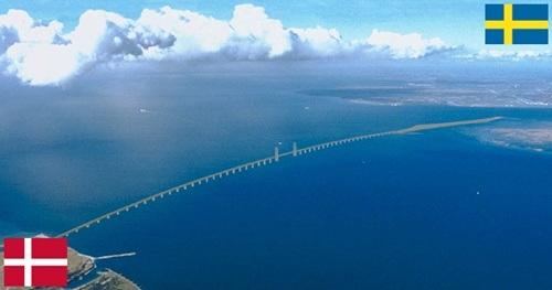 Đường biên giữa Đan Mạch và Thụy Điển là cây cầu
