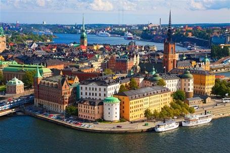 Một góc thủ đô Stockhom, Thụy Điển