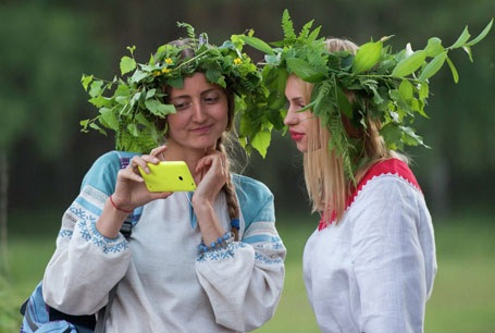 Những người tham gia lễ hội. (Nguồn: Sputniknews)