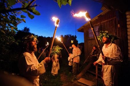 Người tham gia lễ hội. (Nguồn: Sputniknews)