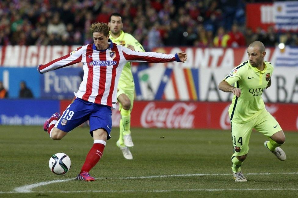 Ngay phút đầu tiên của trận đấu, Torres đã lập lại thế cân bằng cho trận tứ kết Atletico-Barca.