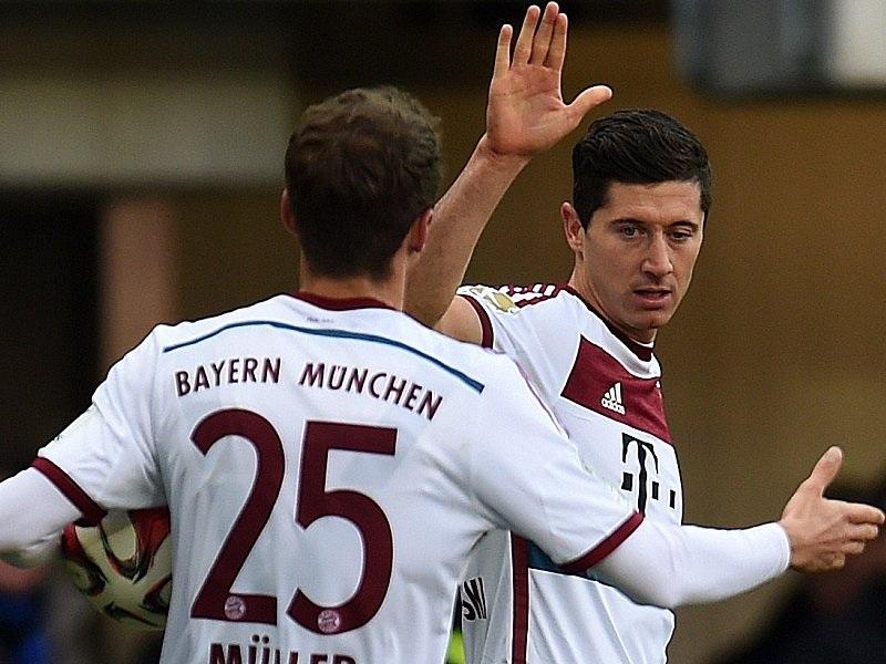 Lewandowski và Robben cùng nhau lập cú đúp