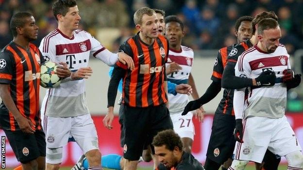 Shaktar Donetsk đã khiến Bayern Munich lâm vào cảnh bế tắc trong trận lượt đi