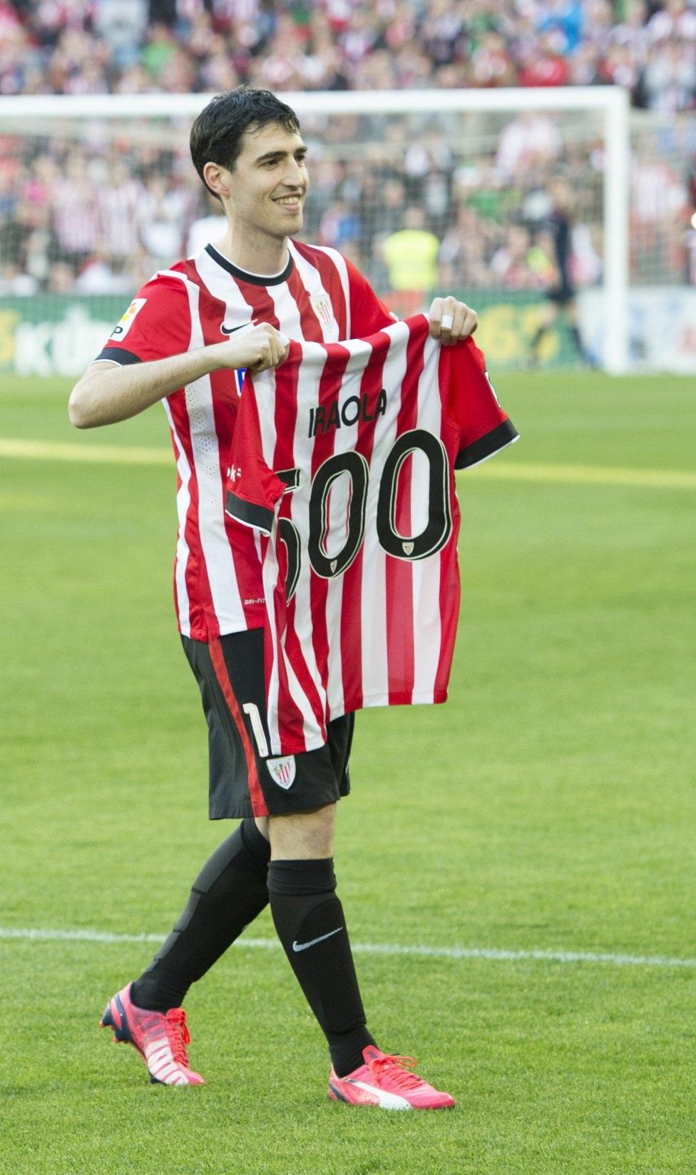 Trận đấu thứ 500 cho Athletic Bilbao của hậu vệ kỳ cựu Pablo Iraola.