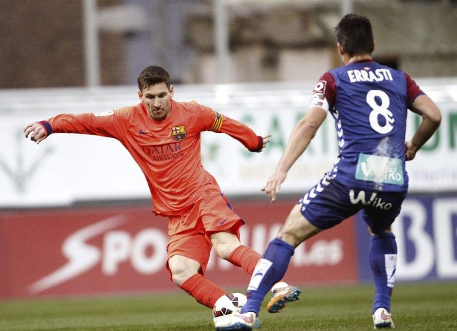 Ngoài hai bàn thắng, Messi còn để lại dấu ấn trên sân Ipurua bằng một pha đi bóng hết sức ảo diệu