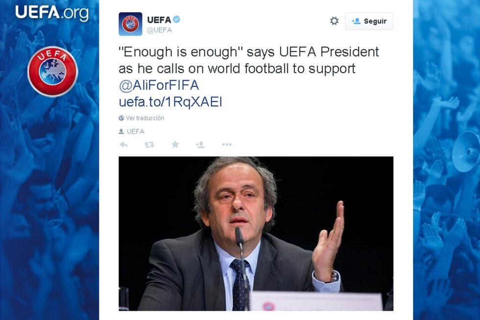 Platini đang chống đối Blatter ra mặt