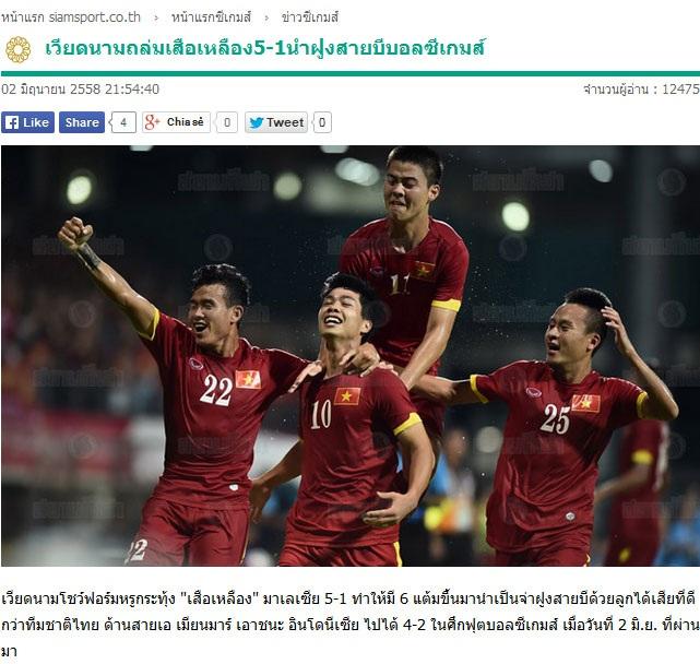 Báo Thái thừa nhận sức mạnh của U23 Việt Nam