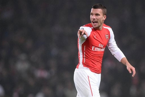 Podolski sẽ đến kiểm tra y tế tại Galatasaray vào ngày hôm nay