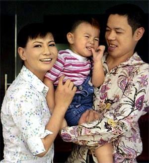Cát Phượng - Thái Hòa và con trai