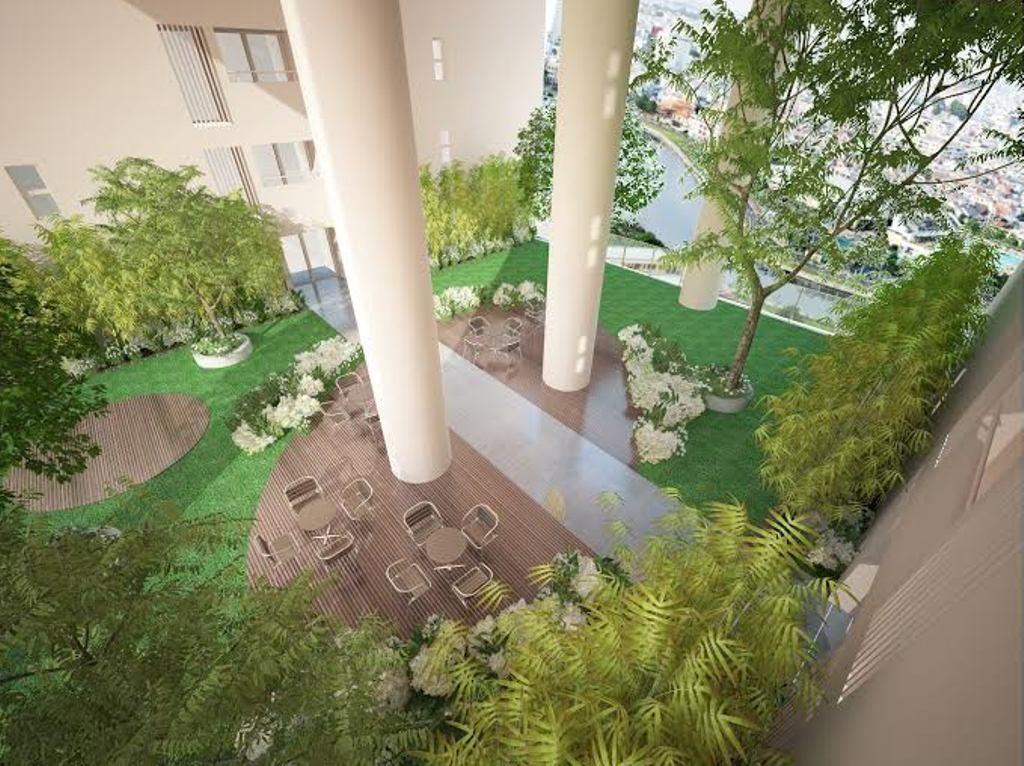 Không gian ngắm cảnh tại Cửa sổ đô thị- Urban Window tại tòa nhà B