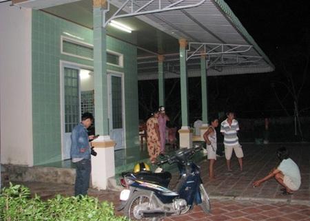 Bà Phe (60 tuổi) bị chém nặng nhất trong 5 nạn nhân. (Ảnh: Huỳnh Hải)