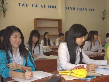 Học sinh huyện đảo Kiên Hải (tỉnh Kiên Giang)