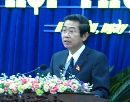 Ông Võ Văn Dũng- Chủ tịch HĐND tỉnh Bạc Liêu phát biểu bế mạc kỳ họp.