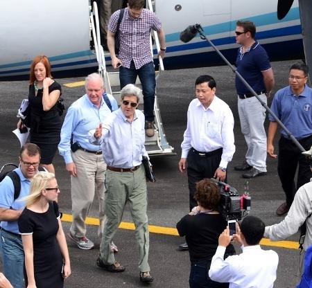 Ông John Kerry tại Cà Mau ngày 15/12.