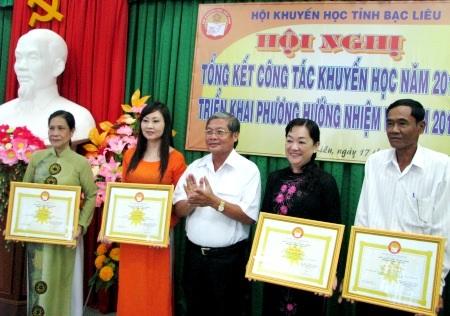 Hội Khuyến học tỉnh Bạc Liêu tổ chức tổng kết công tác hội năm 2013.