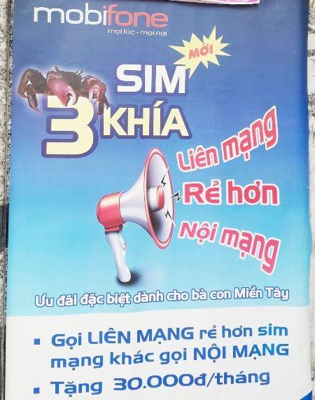 ...và poster sim 3 khía của Mobifone khá giống nhau.