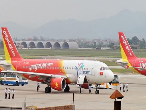 Máy bay VieJet Air tại sân bay quốc tế Nội Bài - Ảnh minh họa