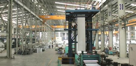 Bên trong nhà máy Tôn Hoa Sen Phú Mỹ