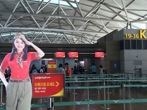 Vietjet đã có mặt tại xứ sở Kim chi với đường bay Hà Nội – Seoul