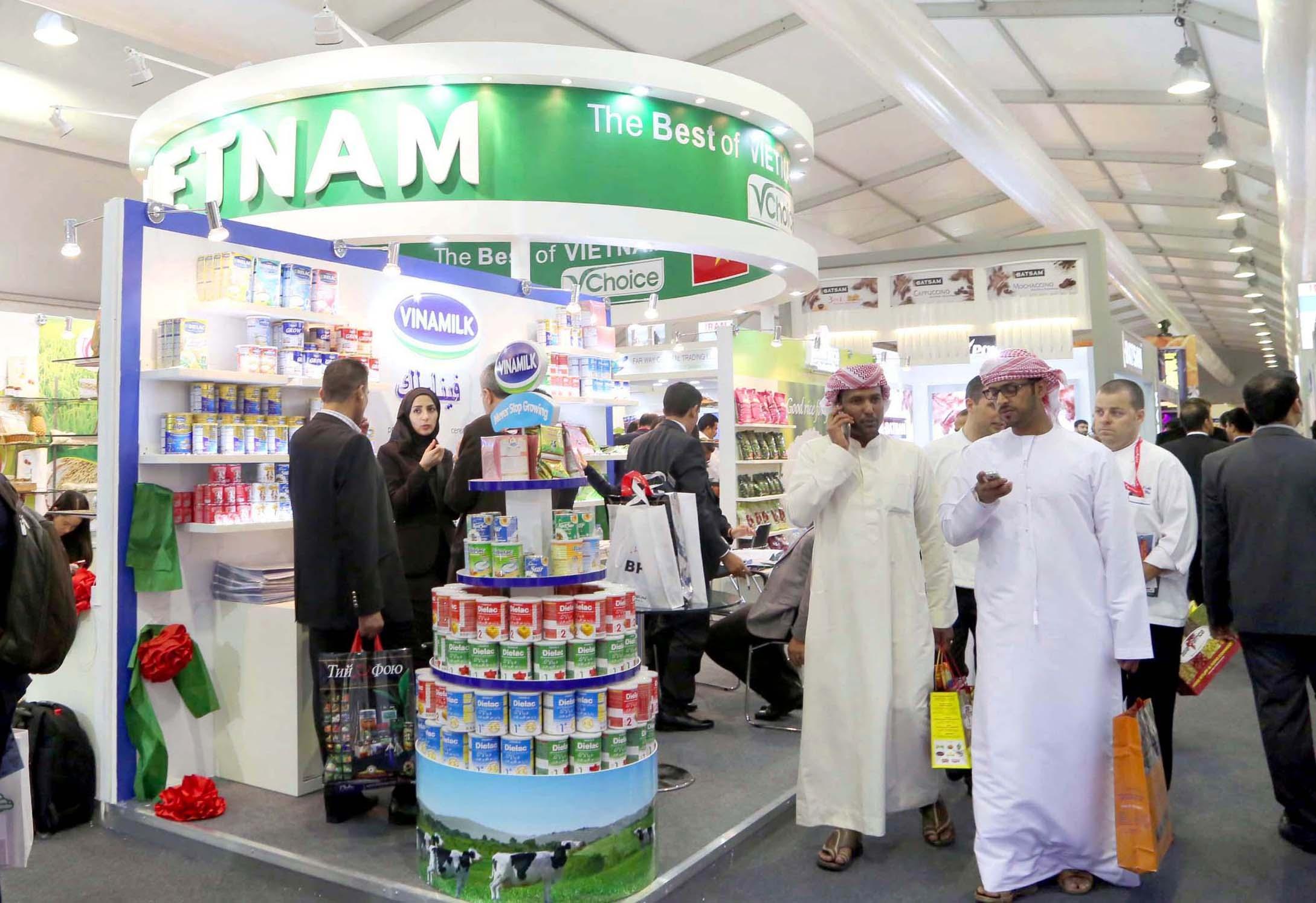 Hinh ảnh Gian hàng Việt Nam tại Hội chợ Gulfood Dubai 2015