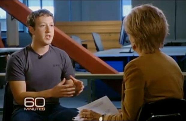 Mark Zuckerberg trong chương trình 60 Minutes của kênh truyền hình CBS