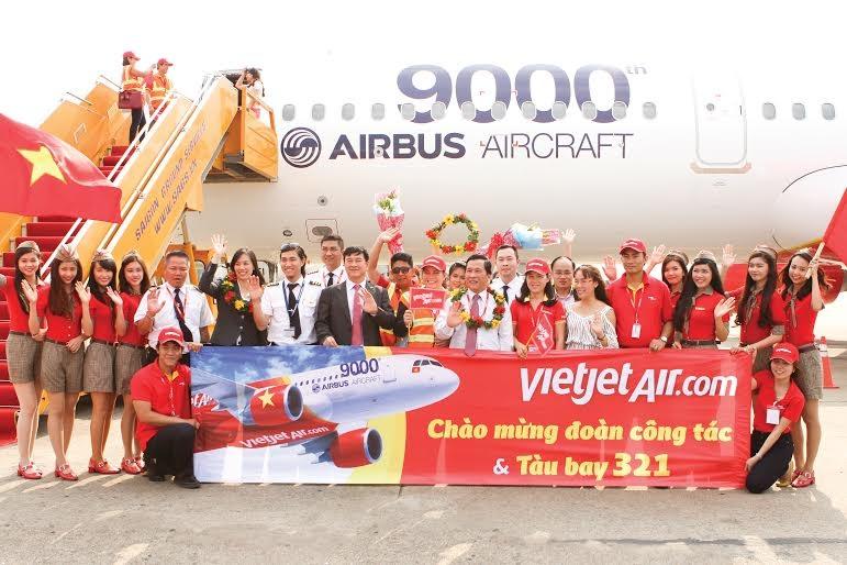 Đón tàu bay A321- tàu bay thứ 9.000 của Airbus để phục vụ hạng ghế SkyBoss