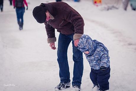 Chiếc ván trượt tuyết là món đồ chơi yêu thích của trẻ em Nga trong mùa đông